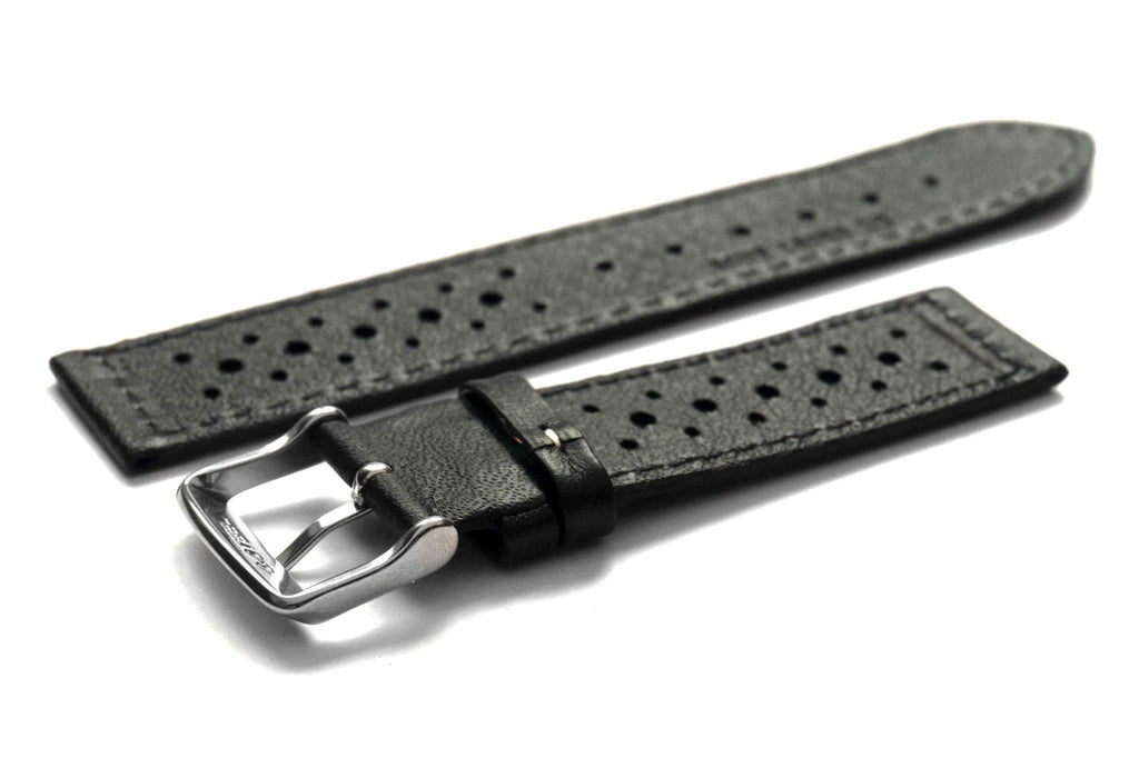 Monte Carlo Black with white stitching - Cheapest NATO Straps  - 2