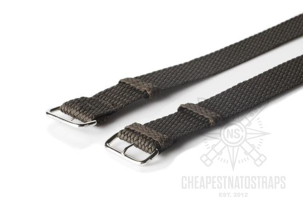 Perlon strap dark brown