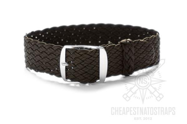 Premium Double Woven Perlon Strap Black (22 mm)