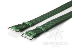 Perlon strap green (18 & 22 mm)