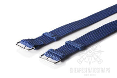Perlon strap navy blue (18 mm)