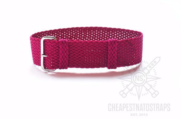 Perlon strap Raspberry ( 18 & 20 mm)