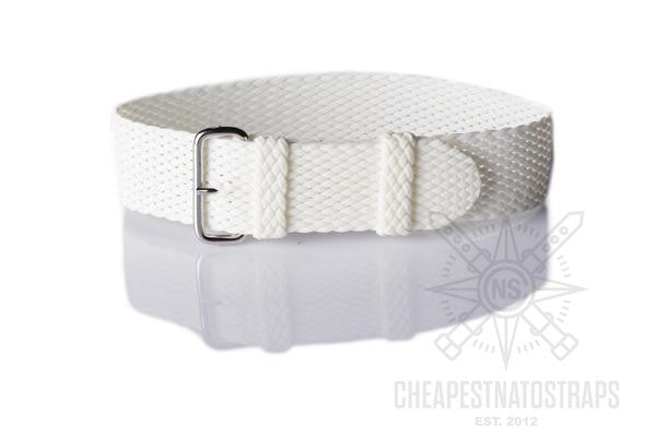 Perlon strap white (18, 20 & 22 mm)