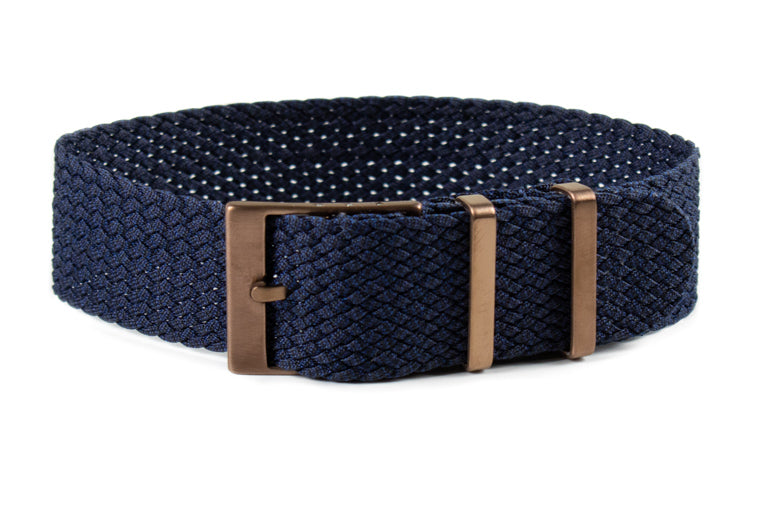 Bronze Perlon strap 2.0 Midnight