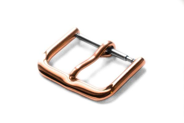 Thin Polished Rose Gold Buckle
