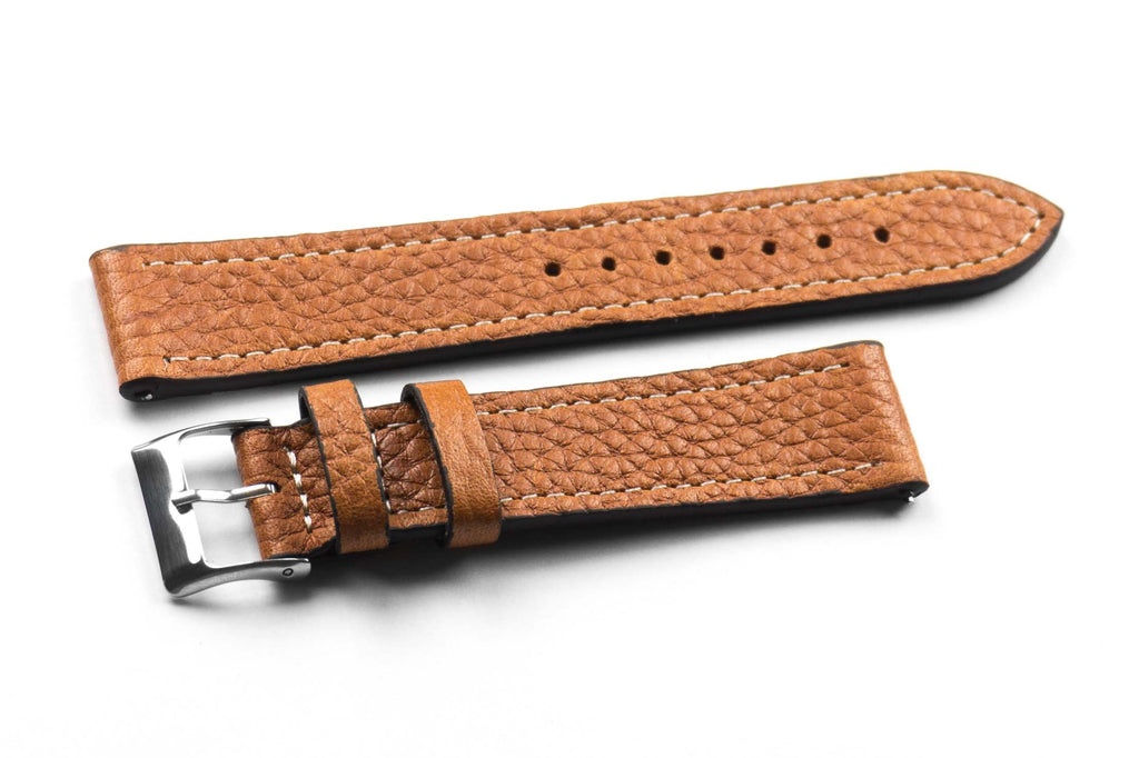 Premium Classic Rustic Brown with white stitching