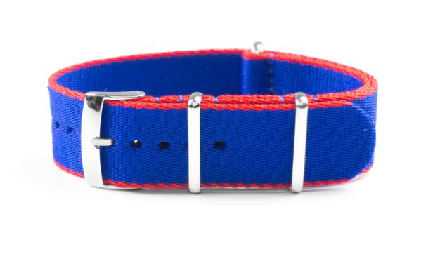 Seat Belt NATO Strap Blue and Red (20 mm)