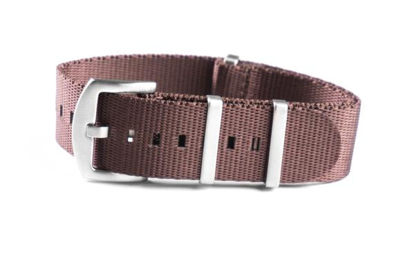 Budget Seat Belt NATO strap Brown (20 & 22 mm)
