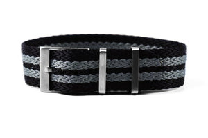 "SharkTooth Strap Black and Gray ""James Bond"""