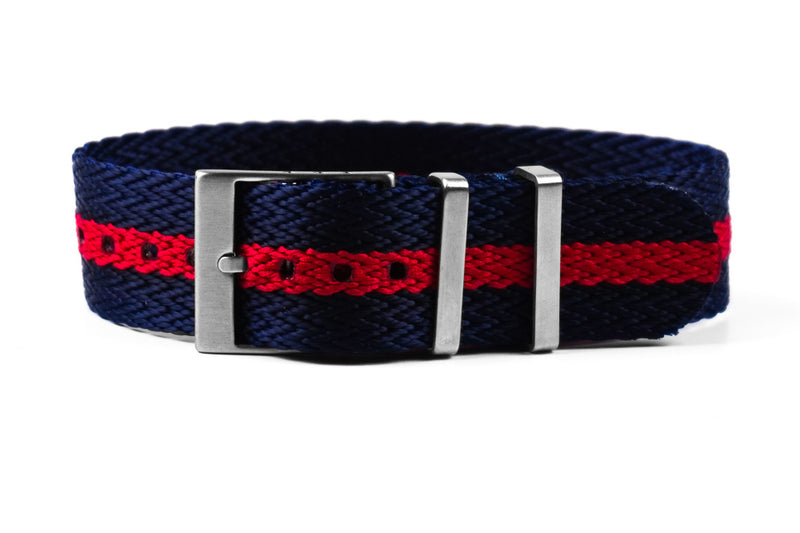 SharkTooth Strap Navy and Red (20 & 22 mm)