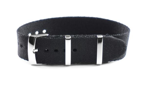 Single Pass Seat Belt Strap Black (21 mm)