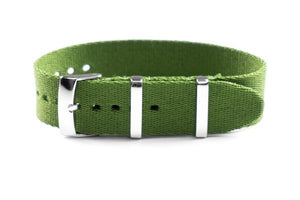 Single Pass Seat Belt Strap Khaki Green