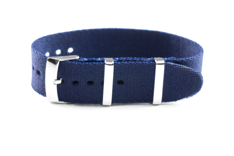Single Pass Seat Belt Strap Navy (18, 20 & 22 mm)