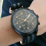 Gold Zulu strap 5-ring Black and Gray