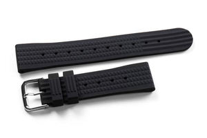 Rubber Waffle Strap Black