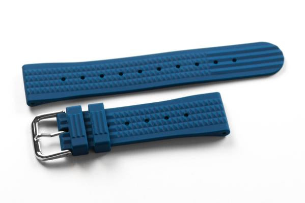 Rubber Waffle Strap Petrol (20 & 22 mm)