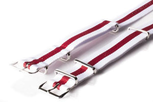 NATO Regimental White and Red - Cheapest NATO Straps  - 2