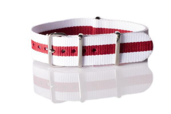 NATO Regimental White and Red - Cheapest NATO Straps  - 1