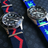 NATO Regimental Strap Blue and Red Zick-Zack - Cheapest NATO Straps  - 5