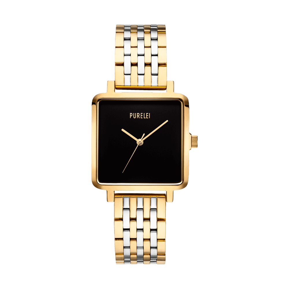 Montre Square Bicolor Black