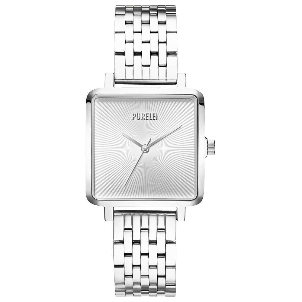 Montre Square Argent White