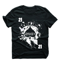 Men's 2NE1 Spade Paint Card  (Black)