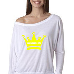 BIGBANG CROWN FLOWY OFF SHOULDER LONGSLEEVE TEE