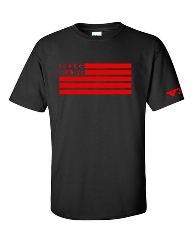 Men's NEW BIG BANG FLAG TSHIRT (RED ELECTRIC INK)