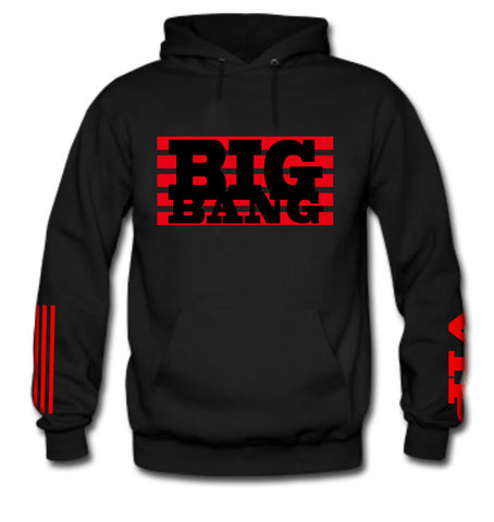 Men's NEW BIG BANG HOODIE (RED ELECTRIC INK)