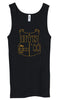 Ladies BTS TANKTOP (NAME'S ON BACK) GOLD INK