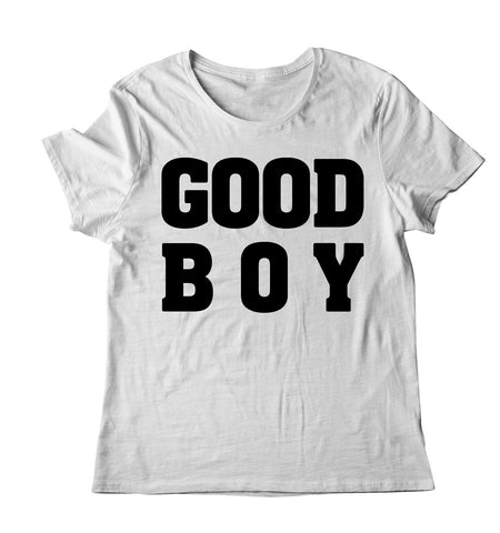 GOOD BOY T-SHIRT (BLACK/WHITE INK)