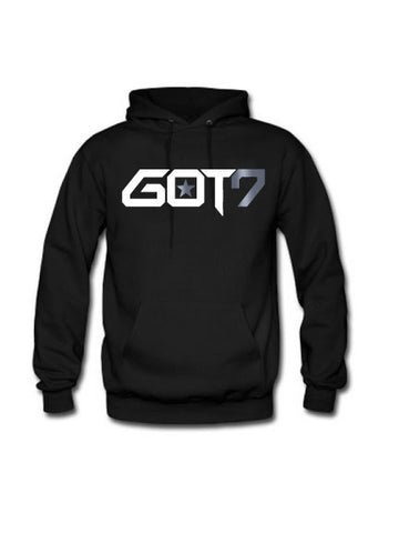 GOT7 HOODIE WITH SILVER FOIL (WHITE INK)