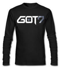 GOT7 LONG SLEEVE TSHIRT WITH SILVER FOIL (MEMBERS NAME ON BACK)