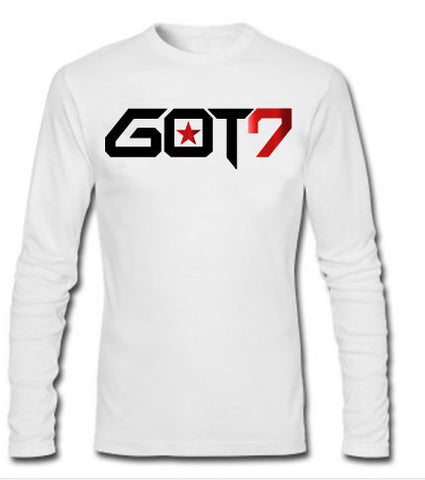 GOT7 LONG SLEEVE TSHIRT WITH RED FOIL (MEMBERS NAME ON BACK)
