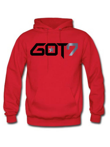 GOT7 HOODIE WITH SILVER FOIL (BLACK INK)