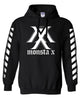 MONSTA X STRIPE ON SLEEVES (MEMBERS NAME ON BACK) HOODIE