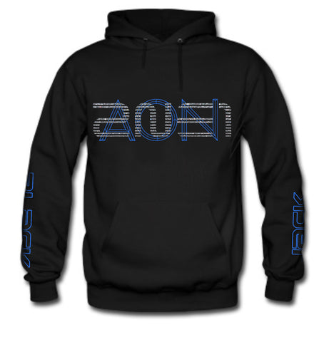 NEW 2NE1 AON BLUE (DARA ON BACK) HOODIE