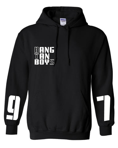 BTS SIGNATURE DESIGN HOODIE (WITH NAME AND #)