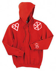 RED EXO GROWL HOODIE