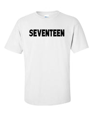 SEVENTEEN MEN'S T-SHIRT W/ MEMBER NAMES