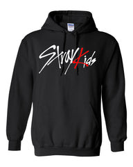 STRAYKIDS HOODIE WTH RED FOIL (MEMBERS NAME ON BACK)
