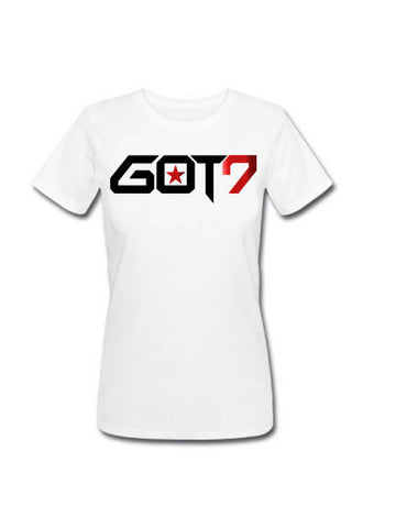 Ladies GOT7 TSHIRT WITH RED FOIL (MEMBERS NAME ON BACK)