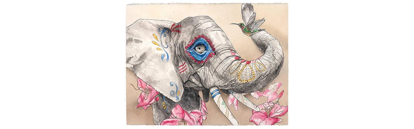 Representing strength, family, and community; stable and wise, elephants remember their dead and maintain rituals. Even their young learn to mourn ancestors they never personally met. Hummingbirds have been known to show up in the spirit of lost loved one