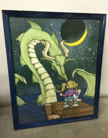 Framed Girl and Her Dragon