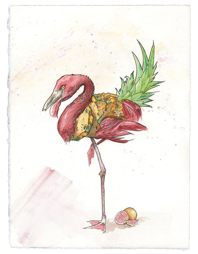 "What makes a thing trendy? Why are flamingos ""in"" now? Moments after my 13-year-old niece informed me that pineapples are cool, not one, but two random people peeked in my booth to ask if I drew...pineapples (mind you I have no other fruit in here). This is a high-minded meditation on the group-think that informs our taste. By the way, grapefruits are really cool, too."