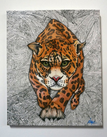 """Jaguar"" Canvas Giclèe"