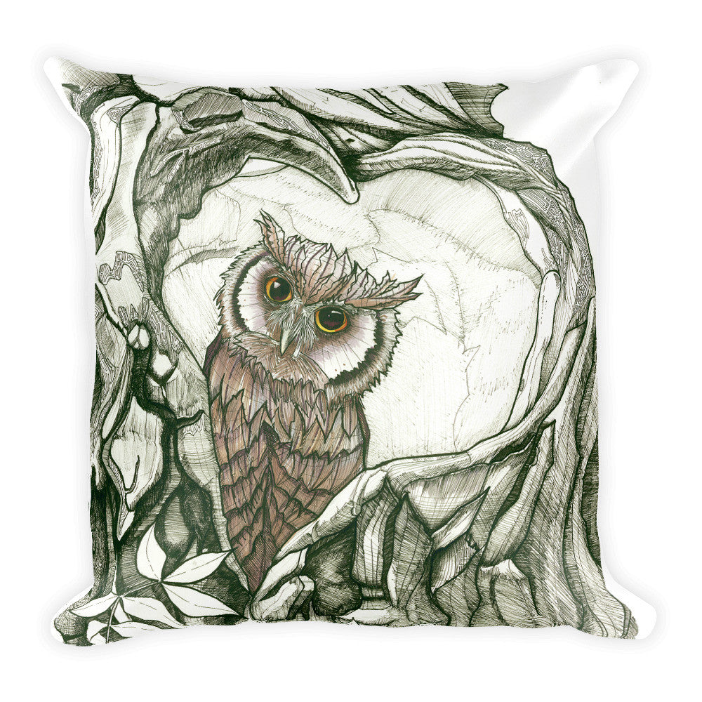 Baby Owl Throw Pillow