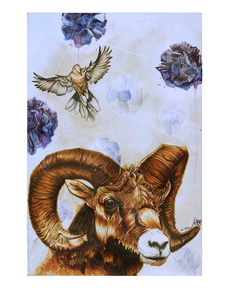 """Quest for the Golden Fleece"" Print Mounted on Wood Panel"