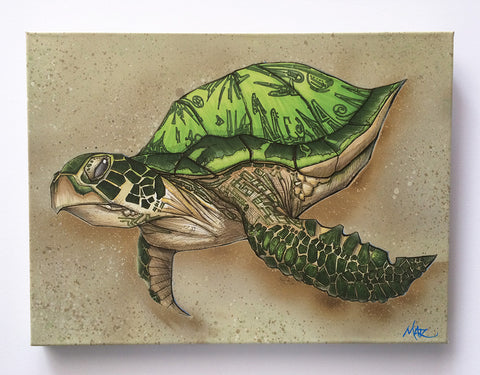 """Sea Turtle"" Canvas Giclèe"