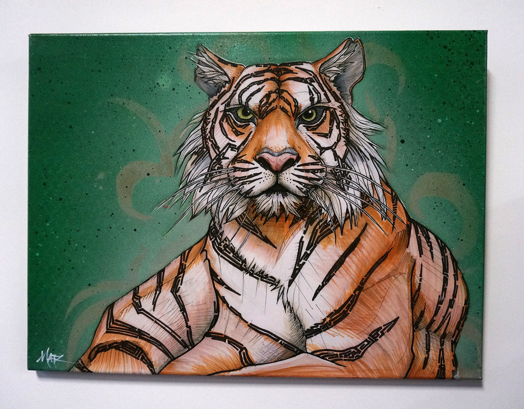 """Sumatran Tiger"" Canvas Giclèe"